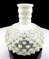 "FENTON ART GLASS FRENCH OPALESCENT HOBNAIL 4 3/4"" PERFUME BOTTLE 1944-1955"