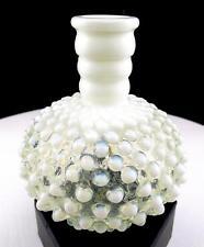 "FENTON ART GLASS FRENCH OPALESCENT HOBNAIL 4 3/4"" PERFUME BOTTLE 1944-1955"