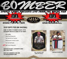 Boston Red Sox 2020 Topps Tier One Baseball 6 Box 1/2 Case Break 1