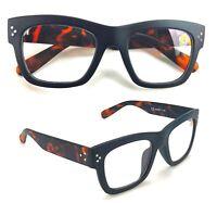 Occhiali da Lettura Vista Uomo Donna Montatura Nera Aste Maculate Icon Eyewear