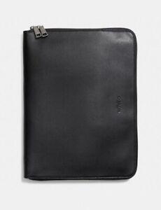 "COACH Apple iPad Pro Portfolio Case 100% Leather 13"" x 9.75"" Black $303.00"