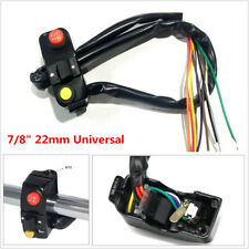 "22mm 7/8"" Motorcycle Handlebar Mount Horn Turn Light Switch For BMW Yamaha Honda"