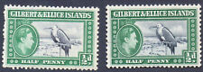 Gilbert and Ellice Islands 1/2d One with Kiss Print M/Mint+Used(A505)