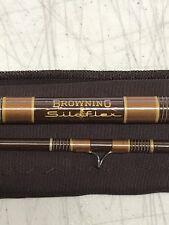 Beautiful Vintage Browning Medallion Silaflex 8' Fly Fishing Rod 2 Pc Bag Tube