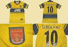 Arsenal jersey 1997 1998 1999 away shirt bergkamp playera premier league gunners