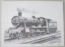 A.L.Hammonds 'SIGNED' ALBERT HALL 4983 railway art print steam locomotive train