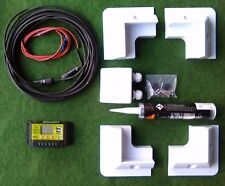 Kit Completo De Montaje De Panel Solar Motorhome LCD de panel no Regulador De Pantalla Y Usb!