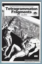 TETRAGRAMMATON FRAGMENTS #229 comic fanzine SAM GAFFORD Don Ensign UFO zine 2013