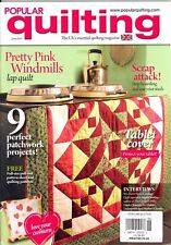 Popular Quilting Magazine June 2013 Lap Quilt Patchwork Projects Pattern Sheet