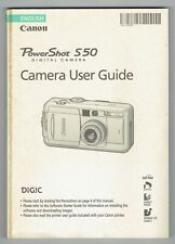 Canon Powershot S50 Replacement User Guide ONLY
