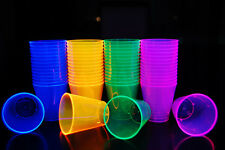 2oz 40 Count Neon Assorted Blacklight Reactive Plastic Shot Glasses
