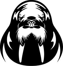 A walrus vinyl cut sticker or decal. Great for car or laptop!!!