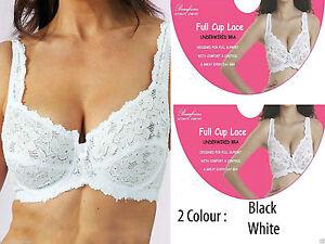 New Women Ladies Full Cup Lace Bra Underwire Designer Comfortable Non Padded Bra