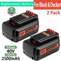 2X For Black&Decker 40V MAX Battery Lithium 2.5Ah LBX2040 LBX36 LBXR36 LST136W