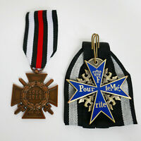 WW1 German Medals Pour Le Merite / Blue Max and Honor Cross Highest Awards Repro