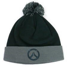 Authentic OVERWATCH Headshot Pom Knit Beanie Gray NEW