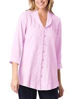 Crinkle Tunika Bluse Shirt pink Women Within Gr. 44 46 48 50 52 54 56 58 60 62