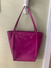 THIRTY-ONE by Jewell Pebbled Purse Tote Handbag Fuchsia, Never Used