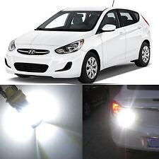 Alla Lighting Brake Tail Stop Lights 1157 2357 White LED Bulb for Hyundai Accent