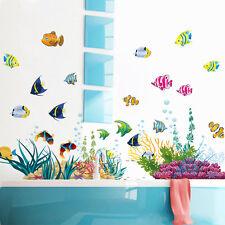 Sea World Grass Fish Reef Wall Sticker Vinyl Decal Home Kid Room Nursery Decor
