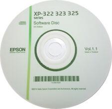 CLONE XP-322 323 325 SERIES EPSON PRINTER SOFTWARE DRIVER DISC  ON CD / DVD
