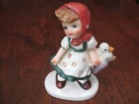 "VTG LEFTON HP CERAMIC PORCELAIN 4 1/2"" TALL SINGING GIRL FIGURINE (#TWDO 2539)"