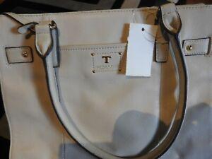 Tignanello Cream Leather tote bag
