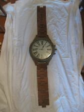 """Giant Wooden Wrist Watch Wall Clock Antique Look Battery Operated 67"""" 170cm"""