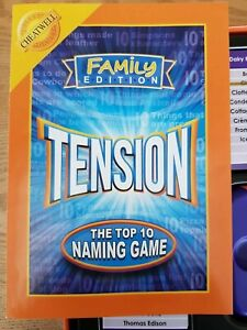 Tension Board Game - Cheatwell Games -  Fantastic Complete Part Sealed Condition