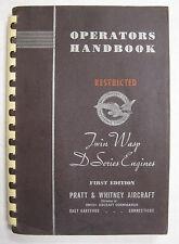 1943 Pratt & Whitney Twin Wasp R-2000 D Series Original Operator's Handbook
