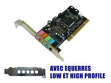 Carte SON PCI 5.1 -  DOLBY - CMEDIA CMI8738/PCI-6ch-LX - LOW + HIGH PROFILE