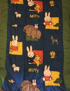 "Comforter Twin/Full 56""x72"" Colorful Miffy Animals Rabbits Zebra Lamb Duck Kids"