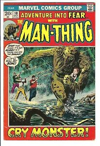 Fear #10 VF Marvel Bronze Age Key 1st Solo (4th Appearance) Man-Thing