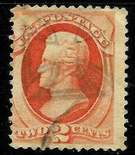 "Fancy Cancel ""Nice Lined Cross"" Sc #178/183 2 Cent 1875-1879 US 79C31"