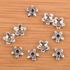 100pcs 6mm Tibetan Silver Bead Caps Charms Alloy Metal Beads Jewelry Findings