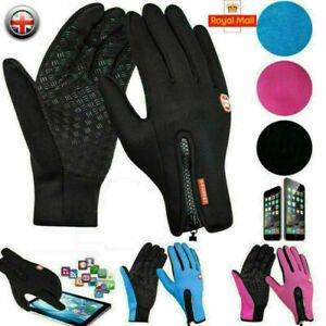 Mens Winter Warm Windproof Waterproof Anti-slip Thermal Touch Screen Gloves UK