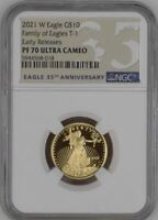 2021 W Proof 1/4 oz. $10 Gold Eagle NGC - PF70 ER