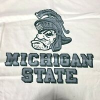 Vintage VTG Michigan State Spartans Fabric Bag Laundry College Logo Mascot 1980s