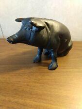 Piggy Bank Metal VINTAGE PIG CAST IRON PIGGY BANK HEAVY METAL CLEAN