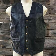 Navarre Leather Italian Stone Design Men's Motorcycle Vest XL