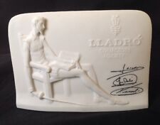 Lladro Collectors Society Display Sign Advertising Signed Bisque Plaque Vintage