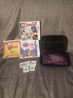 Nintendo 3DS XL Galaxy 4GB Bundle Purple Handheld Console + 8 Games & Case