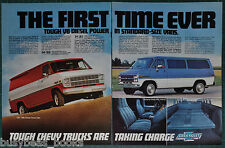 1983 CHEVROLET VAN 2-page advertisement, Chevy Diesel full-size vans