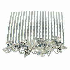 USA Hair Comb Hairpin use Swarovski Crystal Vintage Elegant Bridal Clear Z01