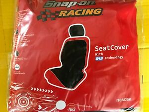 SNAP ON RACING BLACK SEAT COVER BRAND NEW SAS TECHNOLOGY ORIGINAL