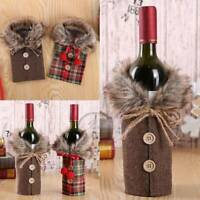 Fancy Santa Claus Outfit Christmas Wine Bottle Bag Cover Xmas Table Decor Gift