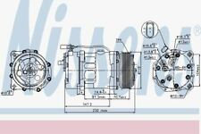 Nissens 89117 AC Compressor fit VW-SHARAN 2.8-V6  95-