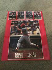 Vintage PETE ROSE HIT #4191 POSTER-CARD Glossy Print Photo 1985 Hit KING SGA?