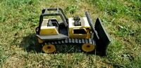 Tonka Steel Bulldozer Vintage Pressed Classic Action Toy, Movable Front Loader