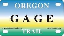 GAGE Oregon Trail - Mini License Plate - Name Tag - Bicycle Plate!
